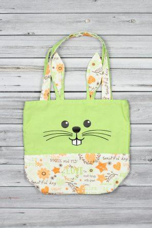 mini tote bag lapin vert (1)