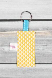 porte clefs message personnalisé jaune (2)