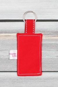 porte clefs message personnalisé rouge (1)