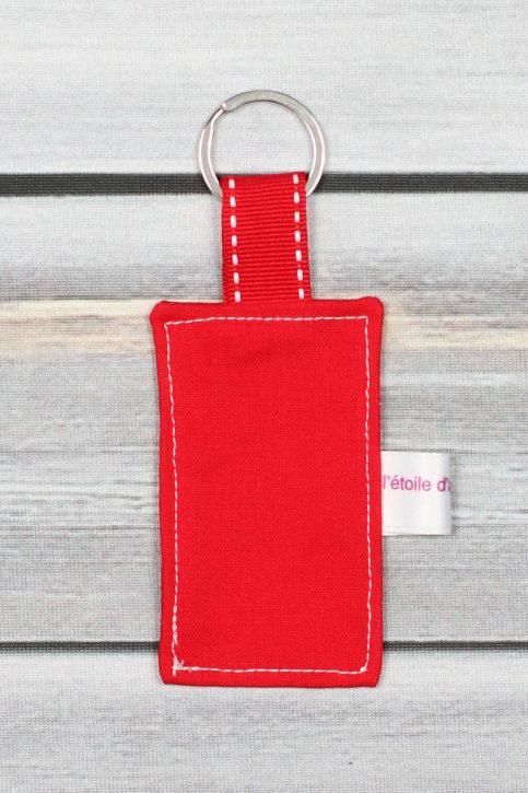 porte clefs message personnalisé rouge (2)