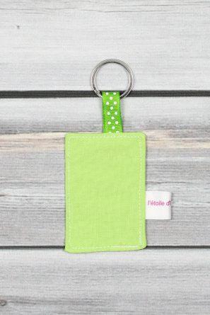 porte clefs message personnalisé vert (1)