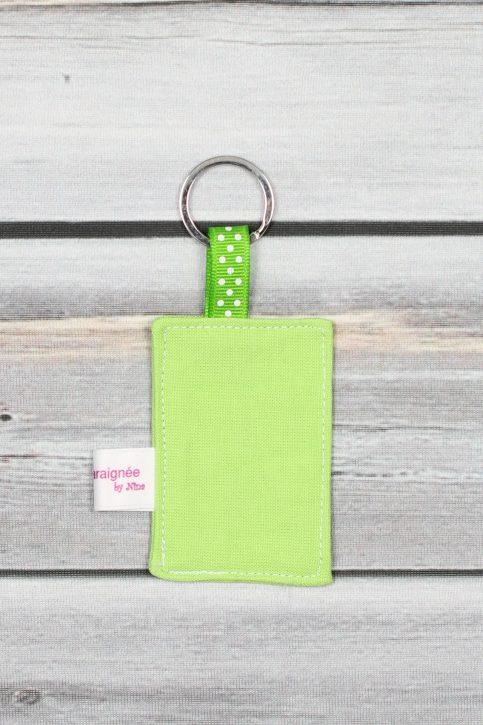 porte clefs message personnalisé vert (2)