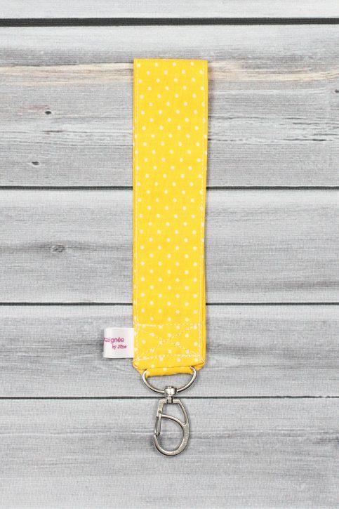 porte clefs poignet jaune (2)