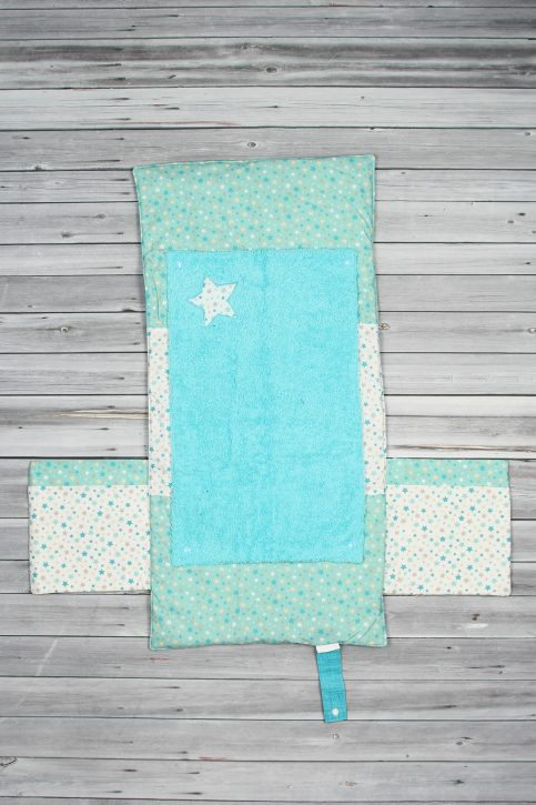 tapis à langer étoiles bleu (1)