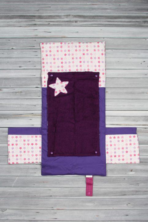 tapis à langer étoiles violet (1)