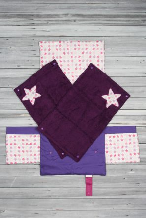 tapis à langer étoiles violet (2)