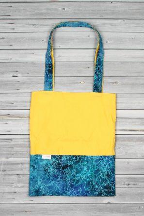 tote bag jaune turquoise (1)