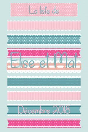La liste d'Elise et Mat