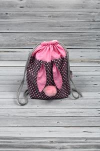 sac à dos lapin rose (1)